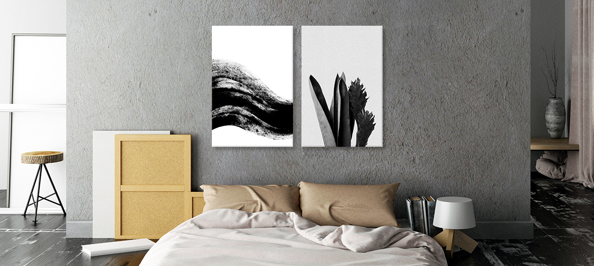 Minimalist Bedroom Canvas Artwork