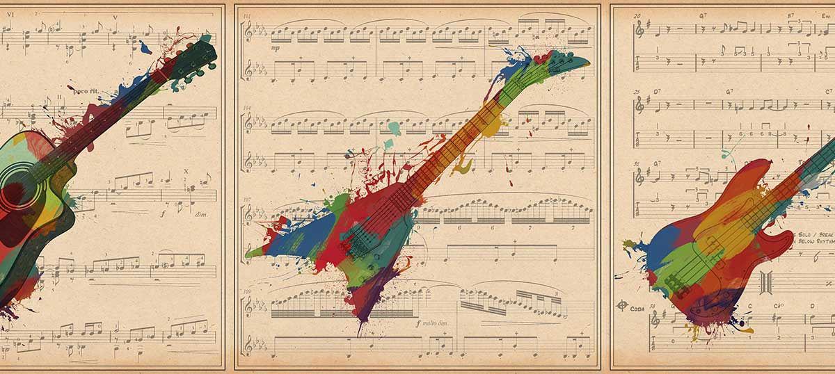 Music Instrument Collection Canvas Prints