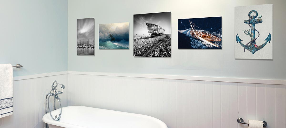 Nautical Bathroom Canvas Wall Art