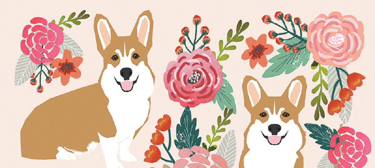 Corgis Canvas Artwork