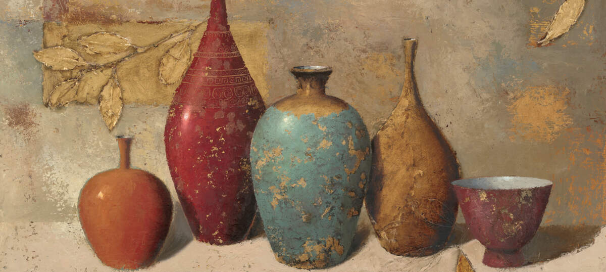 Pottery Still Life Canvas Artwork