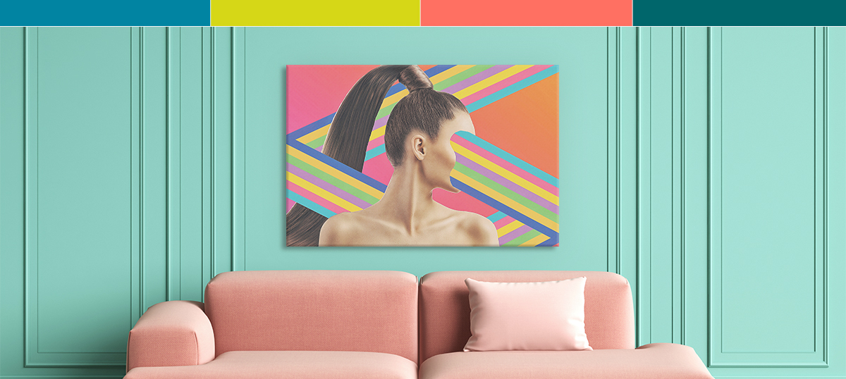 Psychedelic Coral Canvas Art