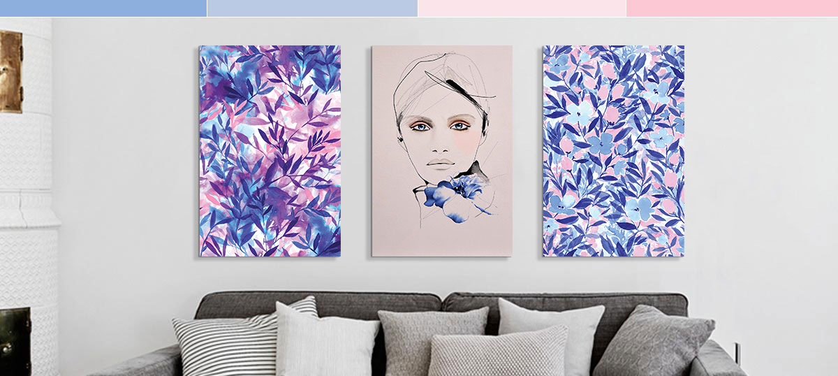Rose Quartz & Serenity Canvas Wall Art