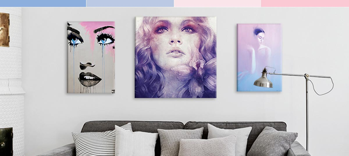 Rose Quartz & Serenity Canvas Art Prints
