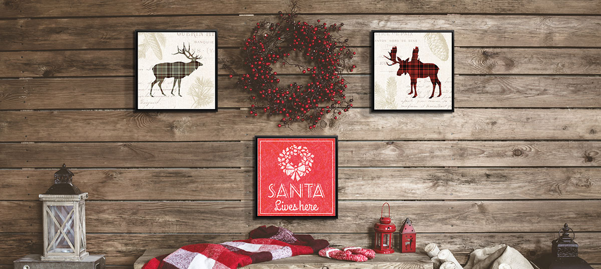 Rustic Red & Grey Canvas Art