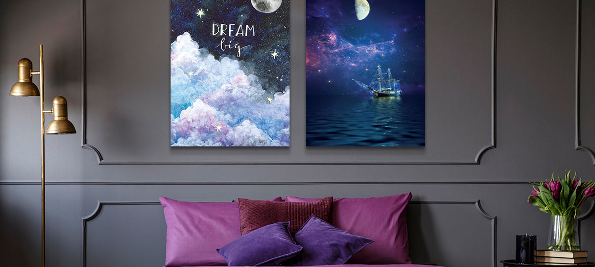 Sagittarius Colors Canvas Art