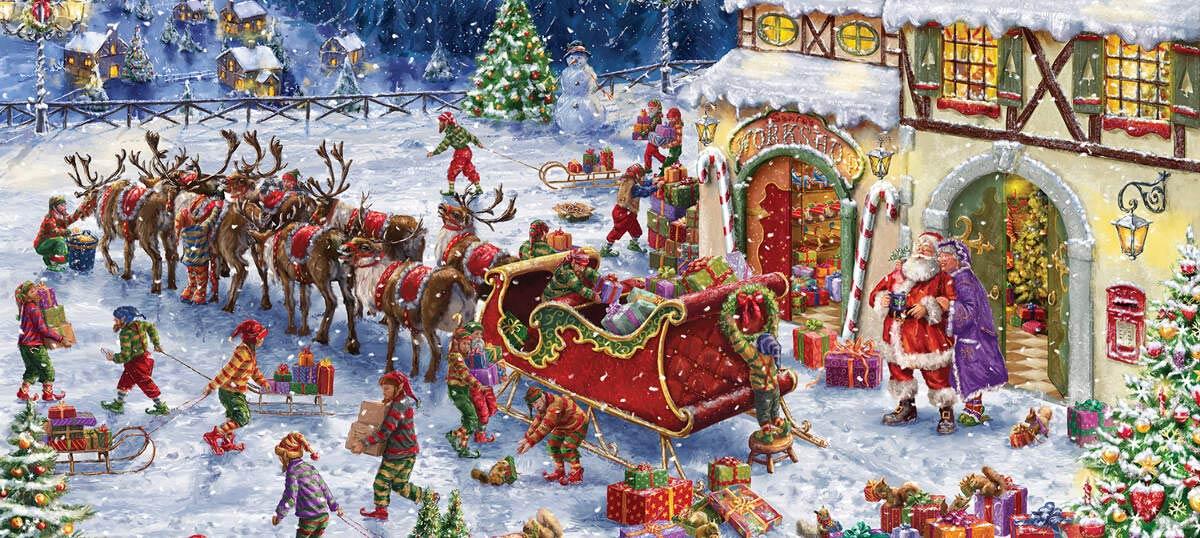 Znalezione obrazy dla zapytania christmas tree and santa claus
