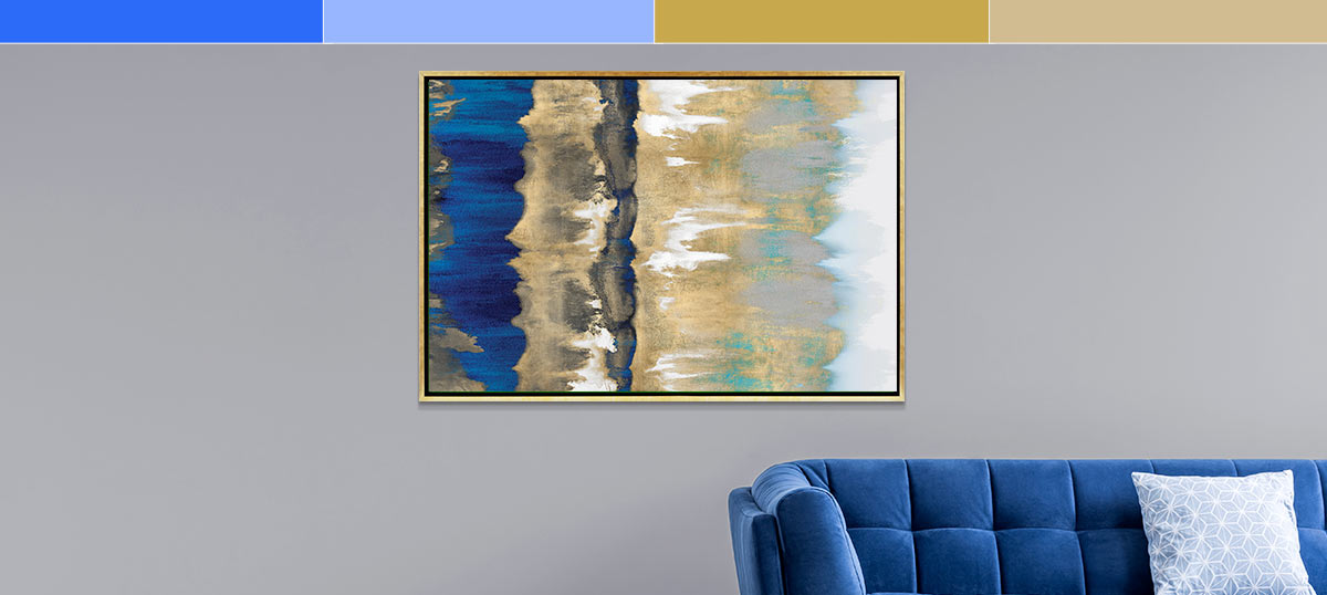 Blue and Gold Canvas Prints