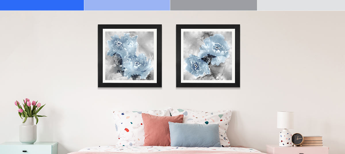 Blue and Gray Canvas Art