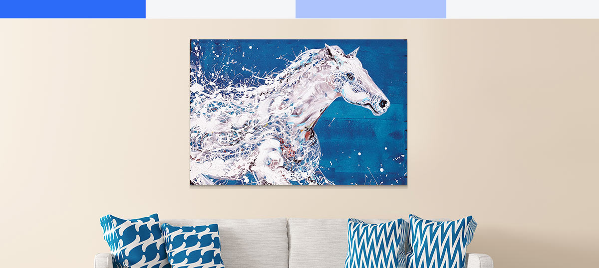 Blue and White Canvas Prints
