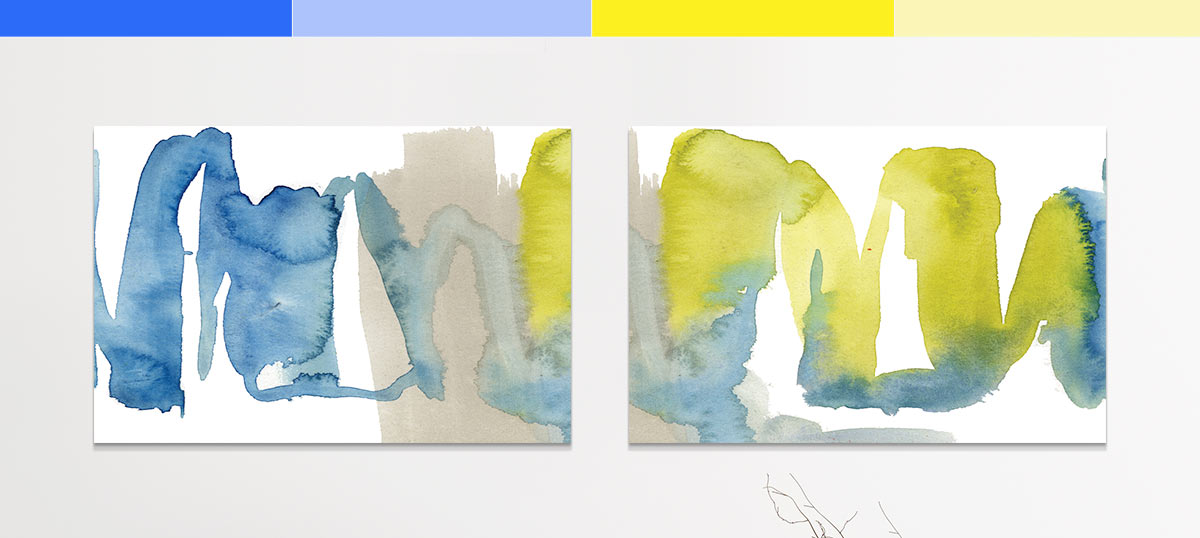 Blue and Yellow Canvas Art