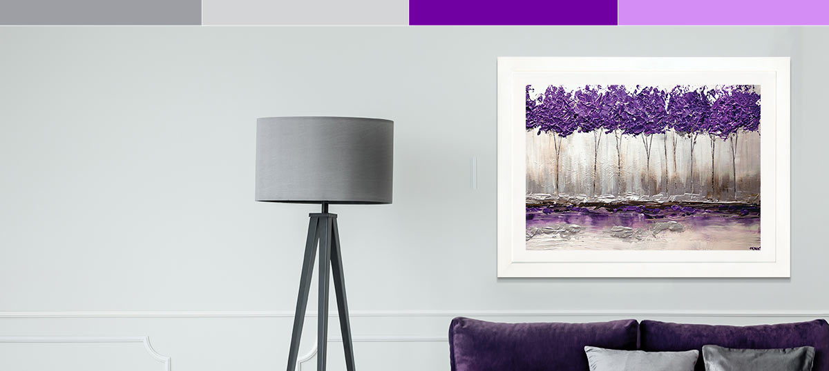 Gray and Purple Canvas Art Prints