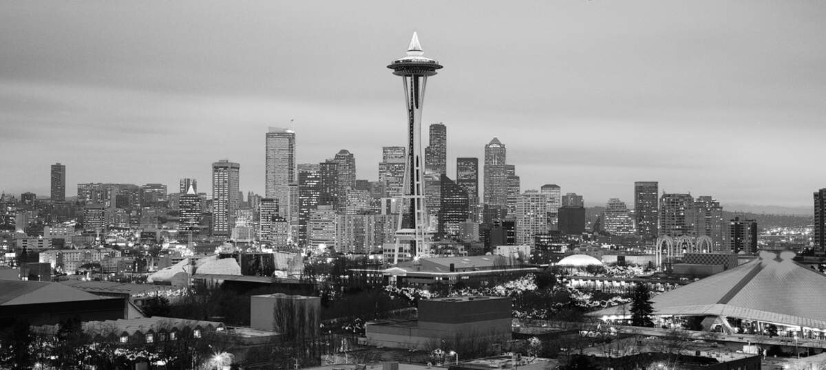 Seattle Skylines Canvas Artwork