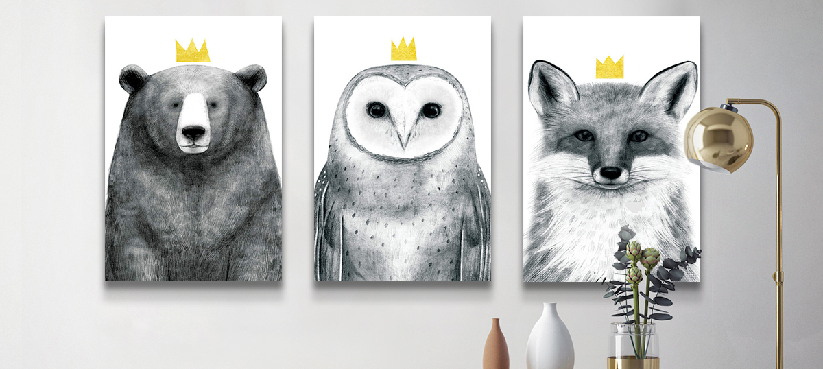 Sets of Three Canvas Artwork