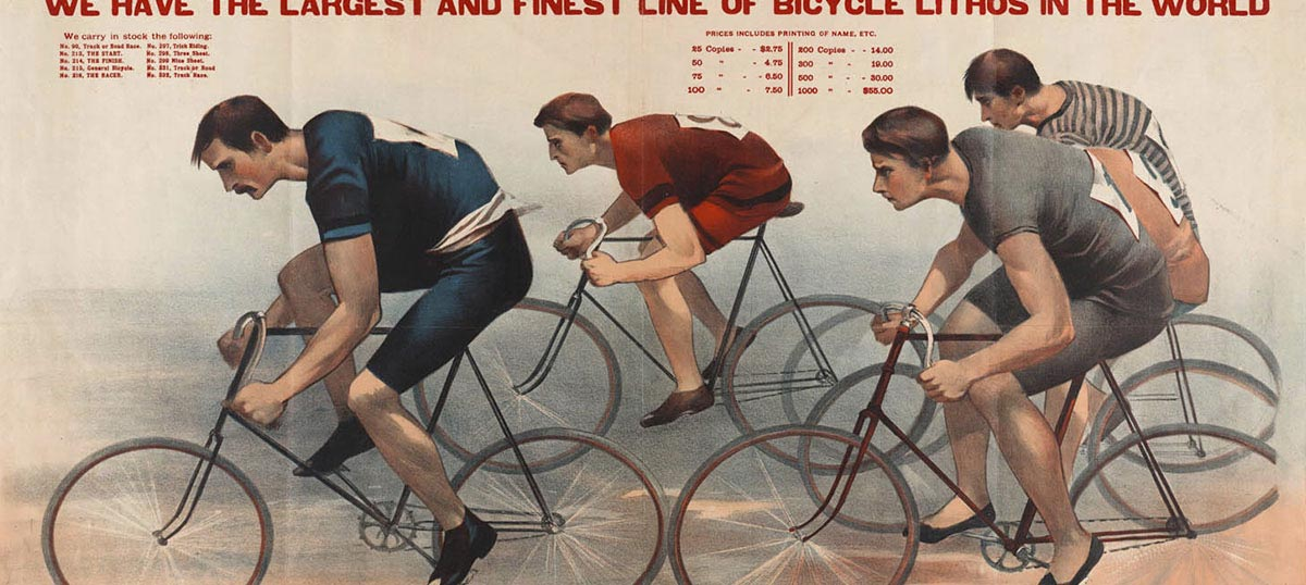Cycling Canvas Art Prints