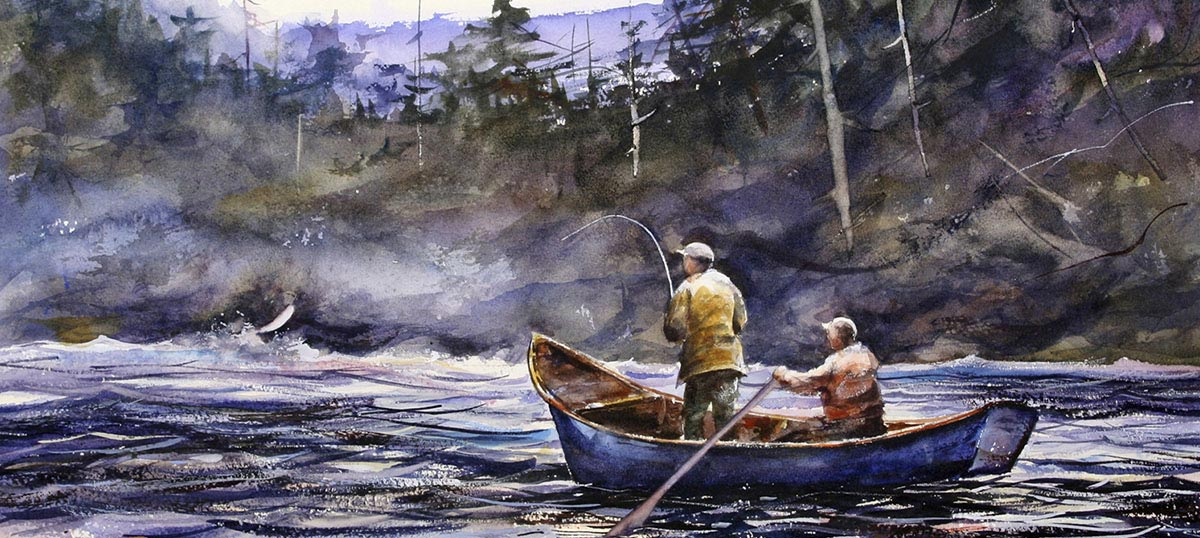 Fishing Canvas Wall Art