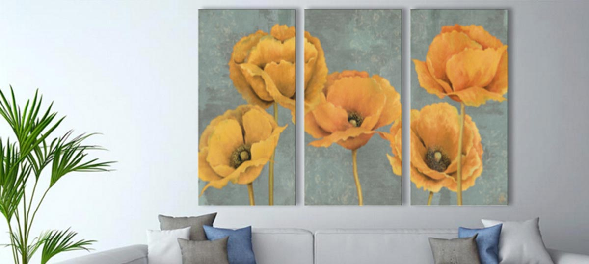 3-Piece Floral & Botanical Canvas Art Prints