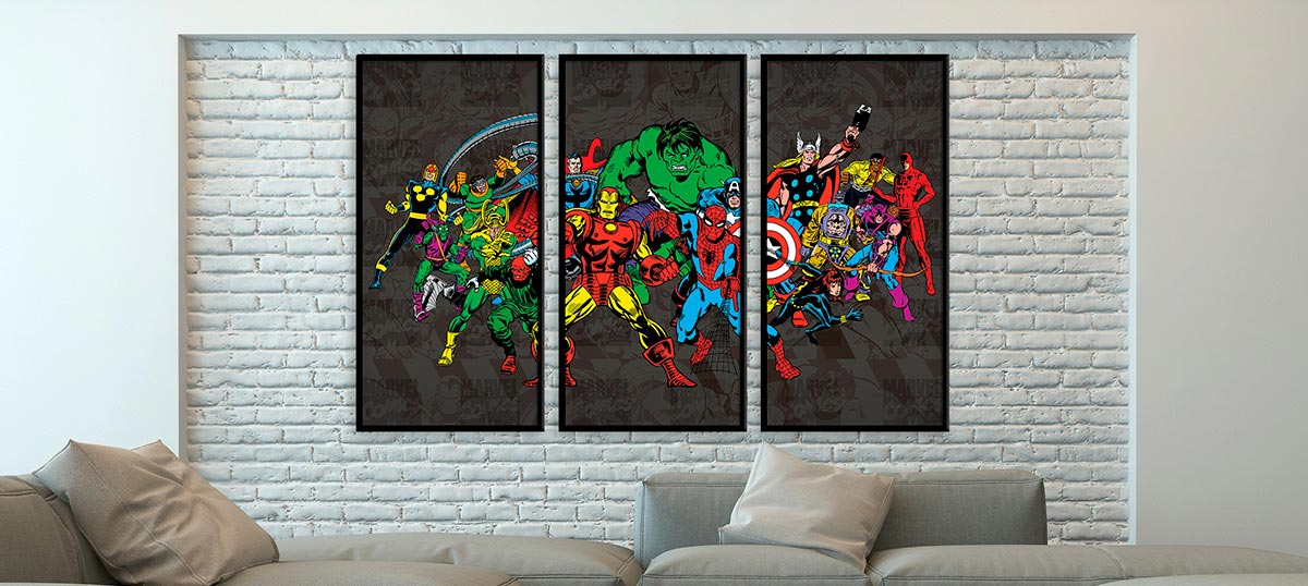 3-Piece Pop Art Art Prints