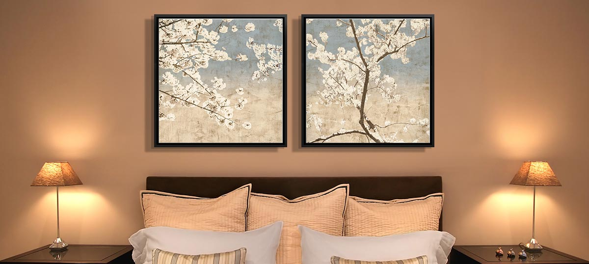 Home Staging Bedroom Canvas Wall Art