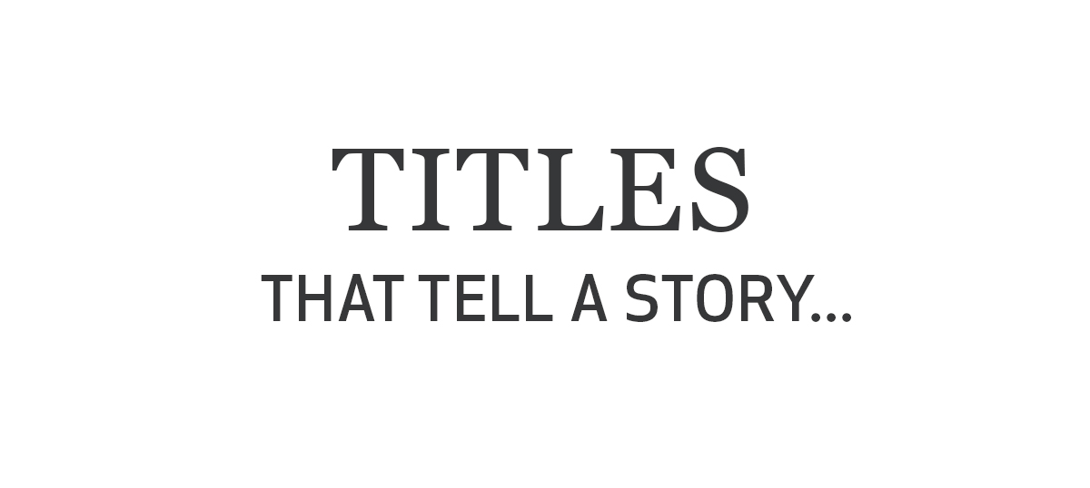 Titles That Tell a Story Canvas Art