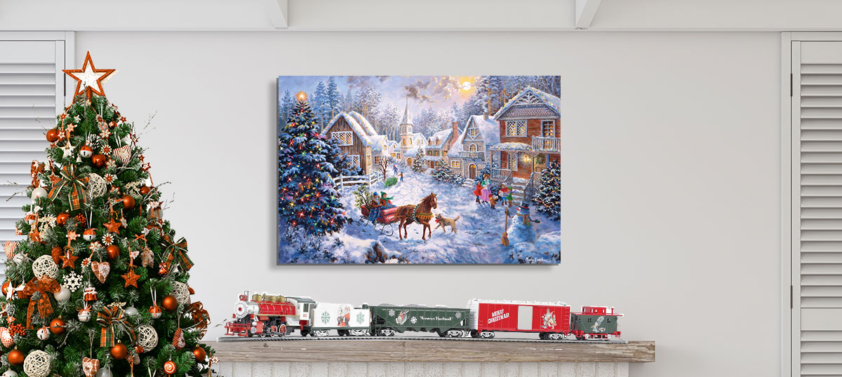 Traditional Tidings Canvas Prints