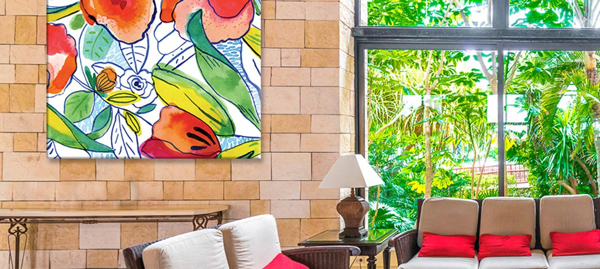 Tropical Living Room Art Prints