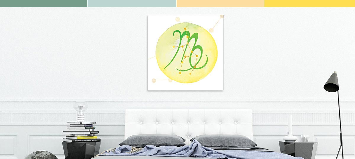 Virgo Colors Canvas Artwork