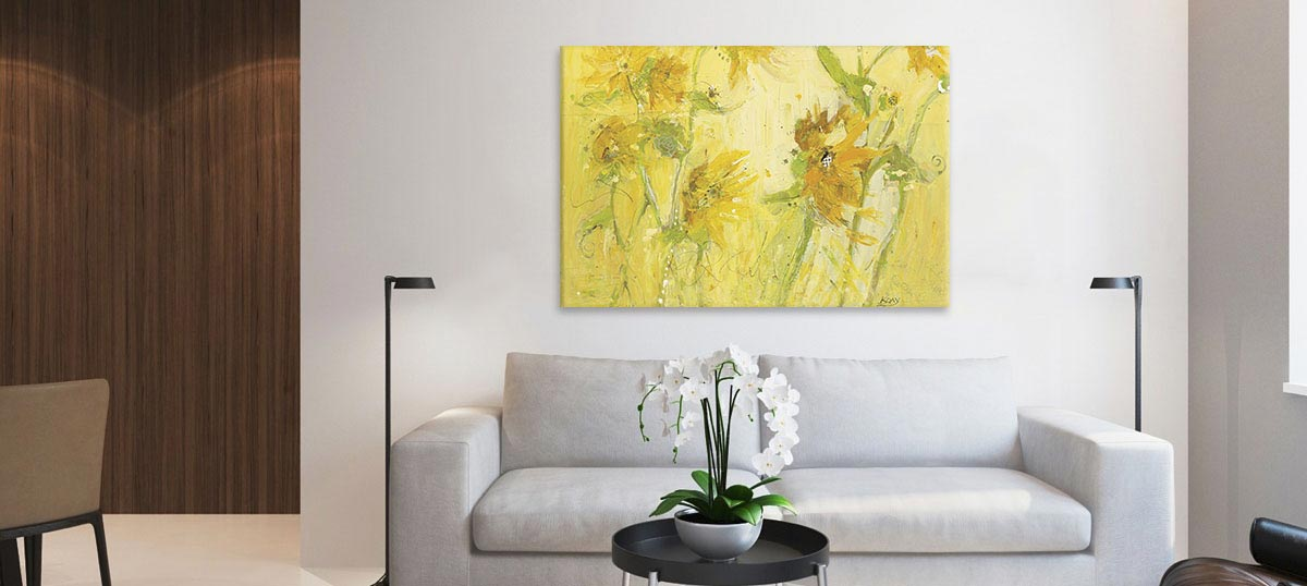 Yellow Canvas Wall Art