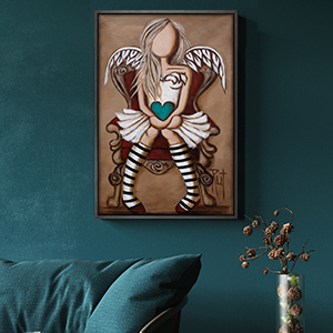 Faceless Canvas Art Prints