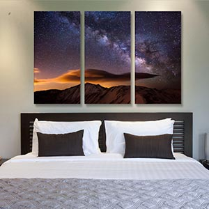 3-Piece Astronomy & Space Canvas Art