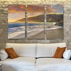 3-Piece Beaches Canvas Wall Art