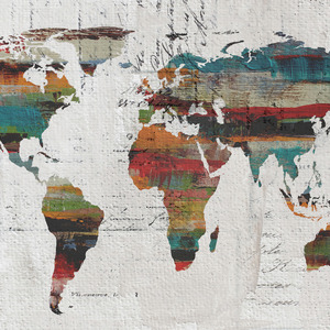 Abstract Maps Art Prints