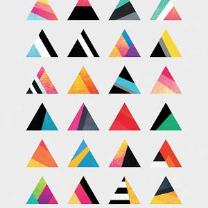 Canvas abstraction shapes horizontally