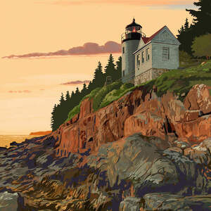 Acadia Canvas Art