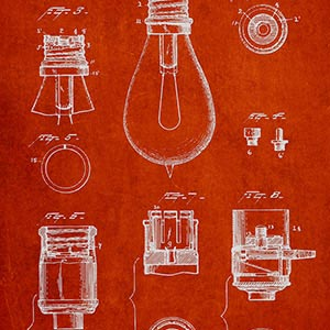 Electronics & Communication Blueprints Canvas Art