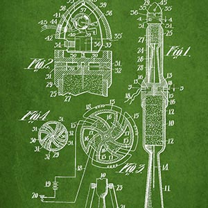Engineering & Machinery Blueprints Canvas Artwork