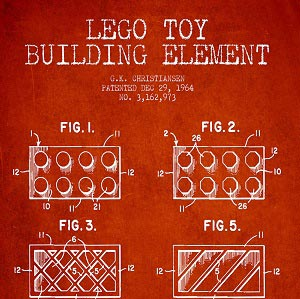 Toy & Game Blueprints Art Prints