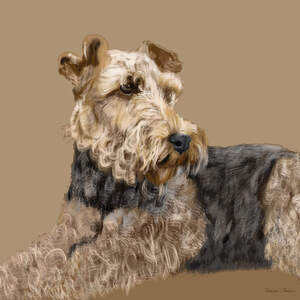 Airedale Terriers Canvas Art