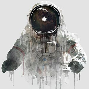Astronauts Canvas Artwork