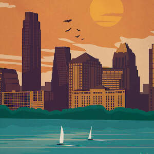 Austin Skylines Canvas Art Prints