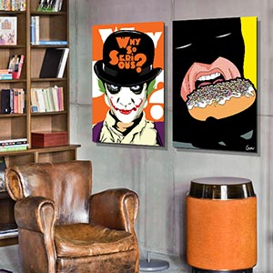 Bachelor Pad Canvas Artwork