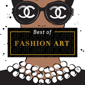 Top Fashion Art of 2018 Canvas Artwork