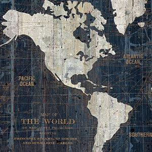 Best of Map Art Canvas Art Prints