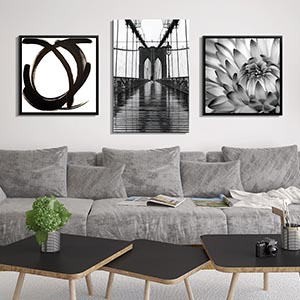 Black and White Art Canvas Art