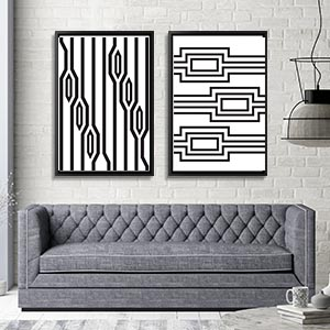 Black & White Patterns Art Prints