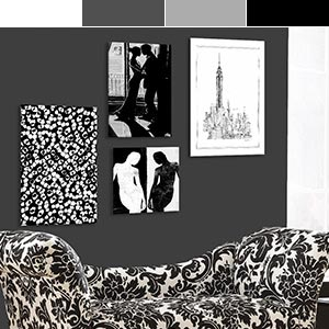 Black & White Canvas Art