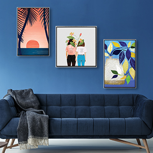 Blue Tropics Canvas Art Prints