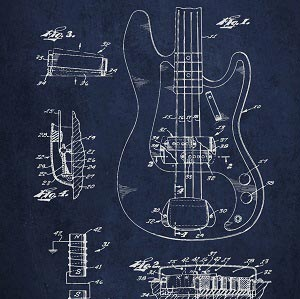 Music Blueprints Canvas Artwork