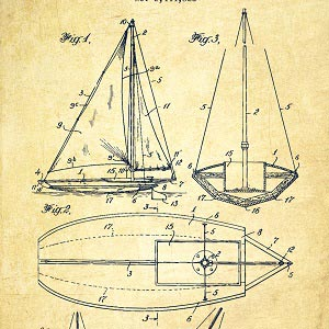 Nautical Blueprints Art Prints