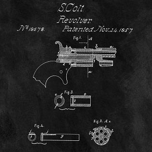 Weapon Blueprints Canvas Art Prints